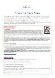 Shots for Tots News December 2012