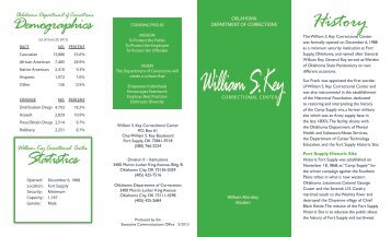 William S. Key Correctional Center - State of Oklahoma Website
