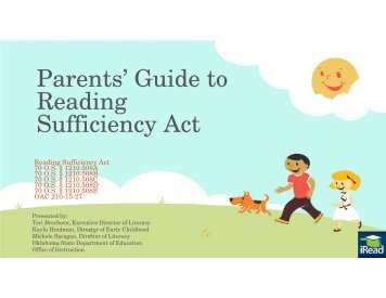 Parents' Guide to Reading Sufficiency Act - State of Oklahoma Website