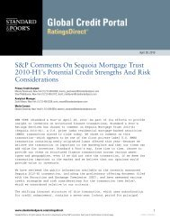 S&P on the Redwood Trust Deal