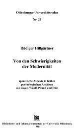 Von den Schwierigkeiten der Modernität - Universität Oldenburg