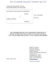 SEC's Memorandum of Law