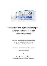 Titankatalysierte Hydroaminierung von Alkenen und Alkinen in der ...