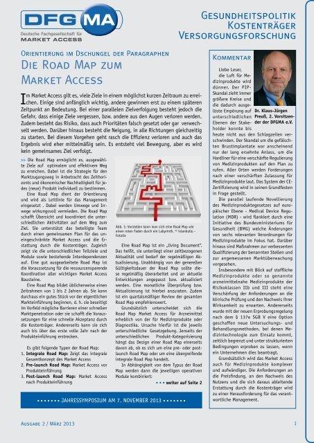 Die Road Map zum Market Access