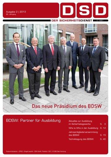 Das neue Präsidium des BDSW - BDGW