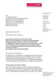 Frau Dr. Sabine Machhausen Bundesanstalt für ... - IdW