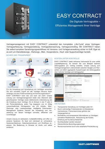 EASY CONTRACT - intex Informations-Systeme GmbH