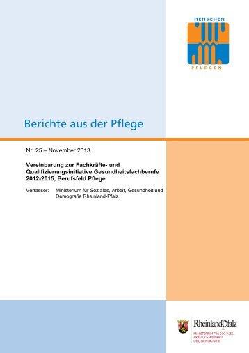 und Qualifizierungsinitiative Gesundheitsfachberufe 2012-2015 ...