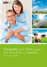 EnergieMix ab 3 Jahre Laufzeit 5,5 % bis 9 % p. a. Festzins - UDI