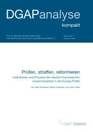 Institutionen und Prozesse der deutsch-französischen ...