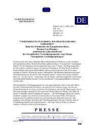 VERTEIDIGUNG IN EUROPA - Rat der Europäischen Union
