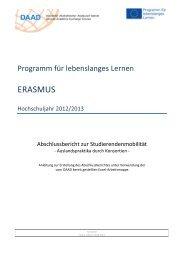 Anleitung zur Erstellung des Abschlussberichts 2012/13 - eu-DAAD