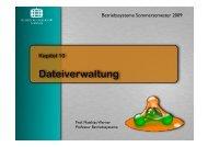 Dateisysteme - TU Chemnitz, Fakultät für Informatik