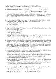 """Aufgaben zur Vorlesung """"Schedulingtheorie"""" – Echtzeitsysteme"""