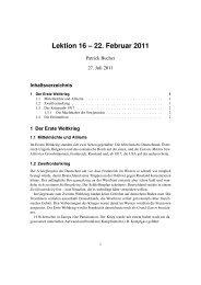 Lektion 16 – 22. Februar 2011 - Webseite von Patrick Bucher