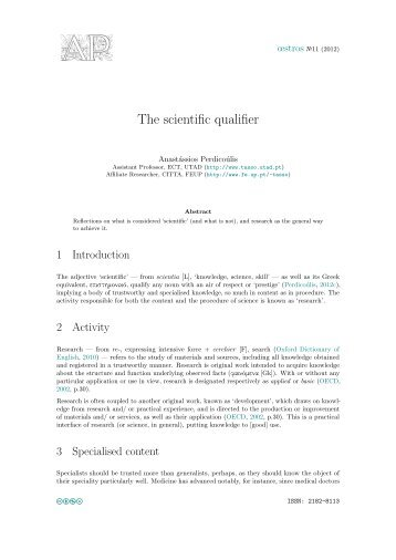 The scientific qualifier