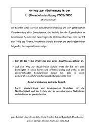 09 2005 10 24 Antrag Rauchfreie Schule - Eltern des THG Schopfheim