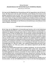 Grundstrukturen der Gotteserfahrung im christlichen Glauben - Kath.de