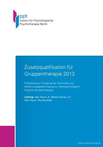 Curriculum Gruppenpsychotherapie TP - Institut für Psychologische ...