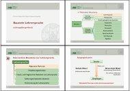 Baustein Lehrersprache - Dr. Karin Reber