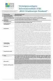 Vermögensanlagen- Informationsblatt - Fondsvermittlung24.de