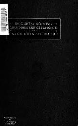 Grundriss der Geschichte der englischen Literatur von ihren ...