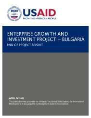 ENTERPRISE GROWTH AND INVESTMENT PROJECT -- BULGARIA
