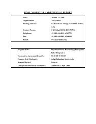 FINAL NARRATIVE AND FINANCIAL REPORT - usaid / ofda