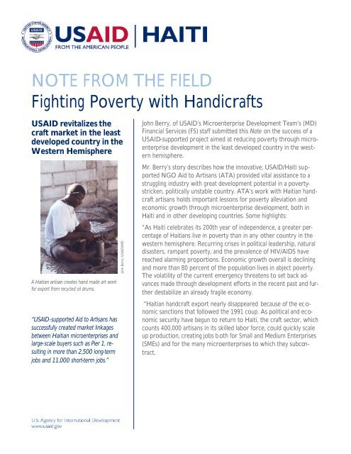 Haiti Note formatted - USAid