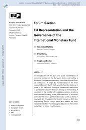 Forum Section: EU Representation and the Governance of the ...