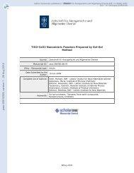 TiO2-CeO2 Nanometric Powders Prepared by Sol-Gel Method - PEER