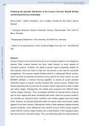 Predicting the potential distribution of the invasive Common Waxbill ...