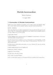 Matlab-kommandoer