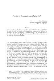 """Unity in Aristotle's Metaphysics H 6"""