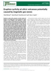 Eruption cyclicity at silicic volcanoes potentially caused by magmatic ...