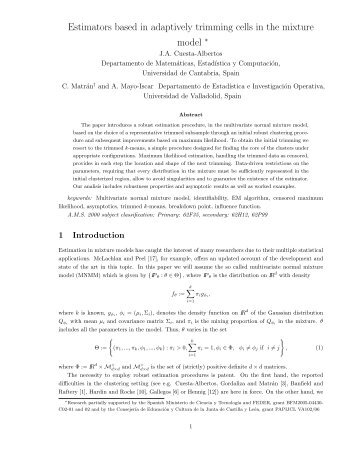 Estimators based in adaptively trimming cells in the mixture model