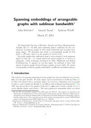 Spanning embeddings of arrangeable graphs with sublinear ... - LSE