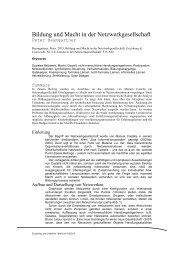 Baumgartner_2013_Bildung und Macht in der Netzwerkgesellschaft