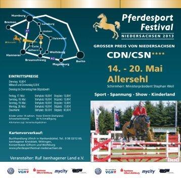 Flyer download - Pferdesportfestival Niedersachsen