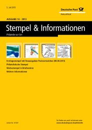 Stempel & Informationen - Deutsche Post - Philatelie
