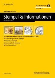 Ausgabe 26 - 2013 | 20. Dezember 2013 - Deutsche Post - Philatelie