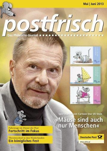 Mai | Juni 2013 - Deutsche Post - Philatelie