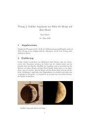 ¨Ubung 3: Galileis Argument zur Höhe der Berge auf dem Mond
