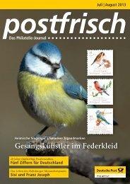 Juli | August 2013 - Deutsche Post - Philatelie