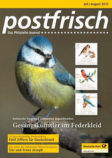 Juli | August 2013 - Deutsche Post - Philatelie