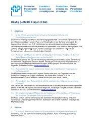 Häufig gestellte Fragen (FAQ) - Schweizer Paraplegiker-Gruppe