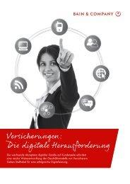 Versicherungen: Die digitale Herausforderung - Bain & Company