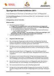 Sportgeräte-Förderrichtlinien 2011 - Badischer Sportbund Nord ev