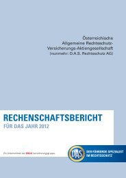 Geschäftsbericht 2012 (pdf, 190 kb) - D.A.S. Österreichische ...