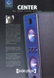 Celsius Center flyer german - Audio Physic